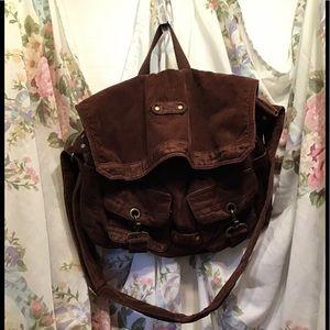 Old Navy's Big Brown Corduroy Hobo Bag